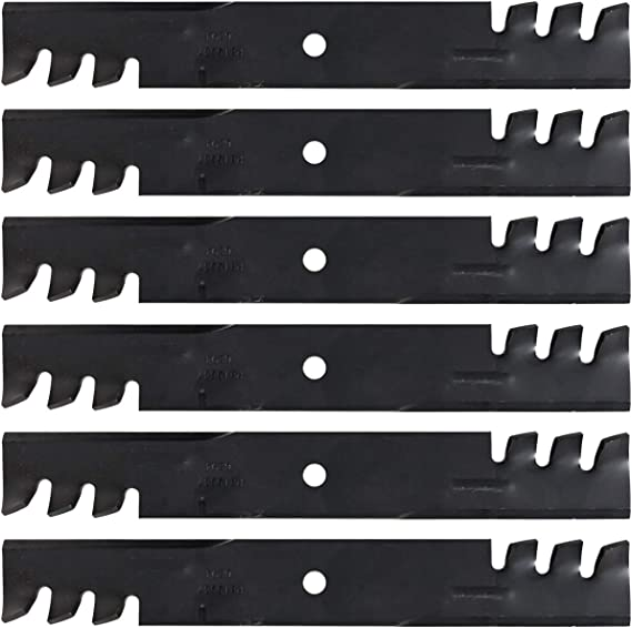"""2PK Toothed Mulching Lawn Mower Blades fits Wright 36/"""" Stander 71440001 PL4206"""