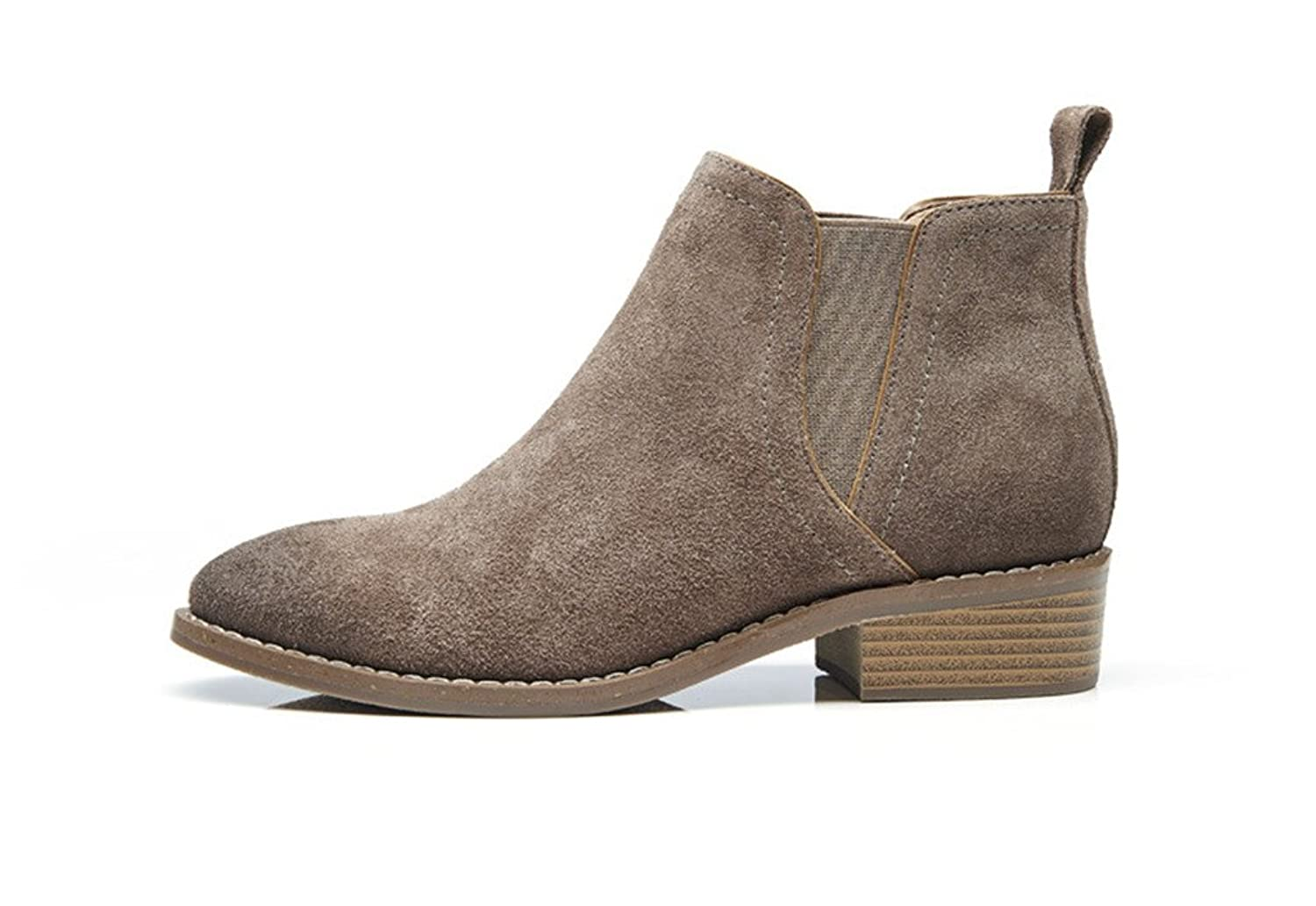 U-lite Womens Fall Winter Classic Comfortable Suede leather Chelsea ankle boots Women booties