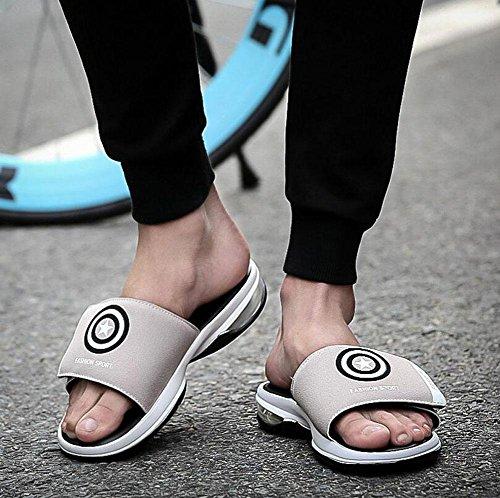GLTER Hombres Punta Abierta Al Aire Libre Sandalias Alfombras De Playa Zapatillas Zapatos Antideslizantes Grey