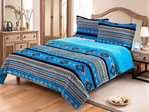 Nu Trendz Signature Southwest Design (Navajo Print) Queen Size 3pcs Set 17426 (Turquoise)