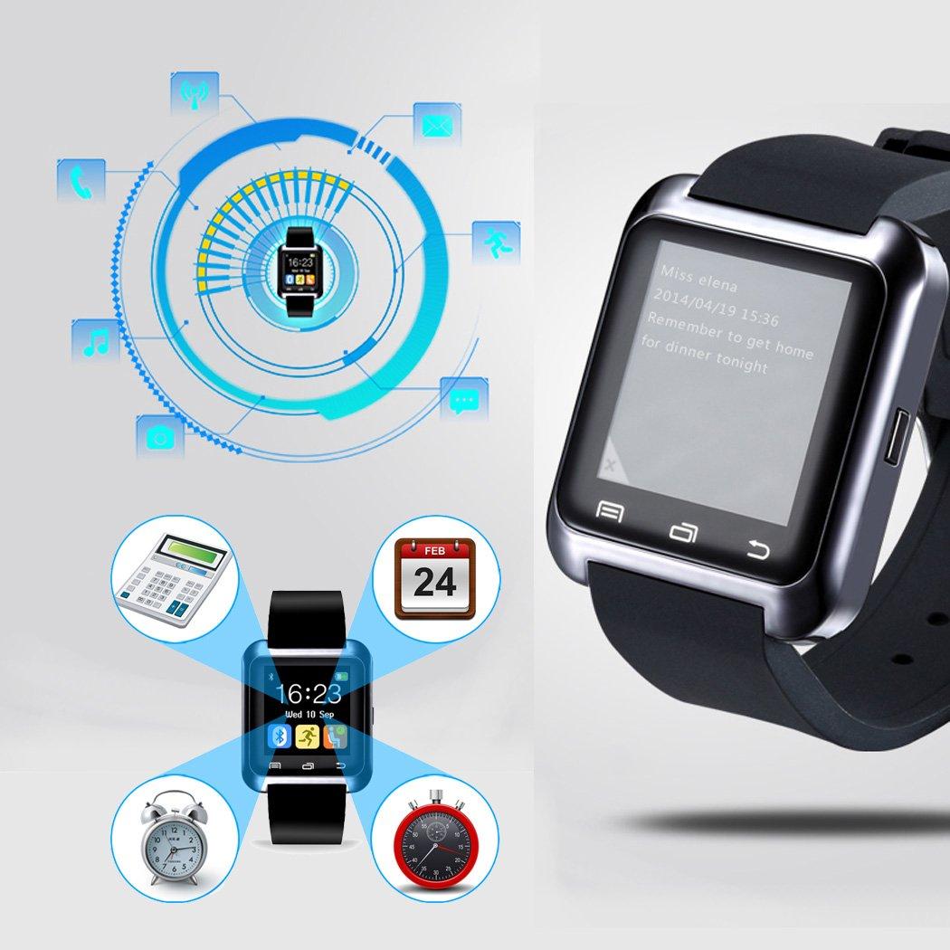 E821 U80 Smart Watch Pulsera Smartphone Reloj Inteligente por Bluetooth 4.0,Anti-perdida Sportswatch Podómetro Ajuste para Teléfonos Android IOS iPhone 5/6s ...