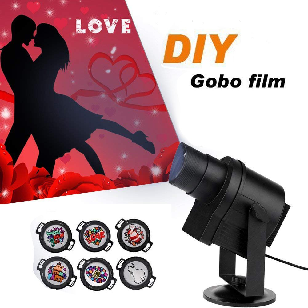 LED Projection Lights with Timer Image Motion Speed Control Projector Lamp For Christmas Party Festival decoration or Store, Coffee Shop, Hotels, Bar Logo Display (DIY Pattern)