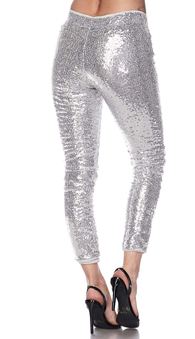 48d45152 High Waisted Sequin Leggings in Rose Gold and Red at Amazon Women's  Clothing store: