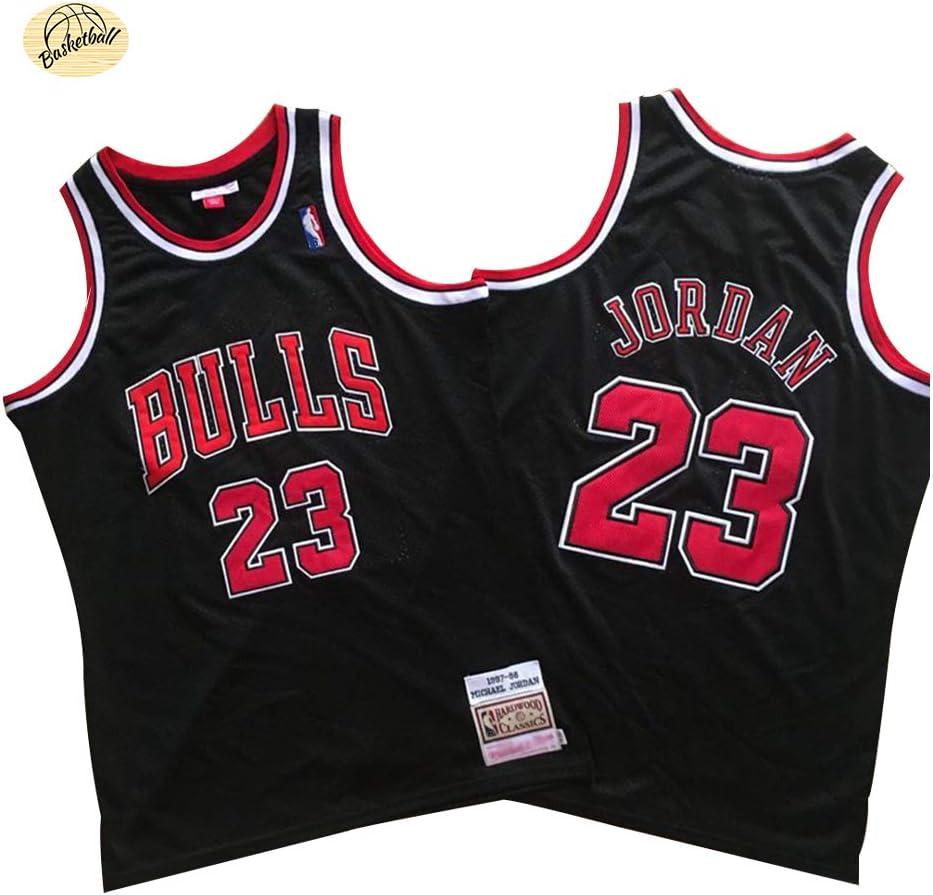 Camiseta de Baloncesto Michael Jordan Chicago Bulls, Camiseta Retro Bordado clásico n. ° 23 para Hombres, Sudadera Juvenil Transpirable de Secado rápido para Exteriores (S-2XL): Amazon.es: Deportes y aire libre