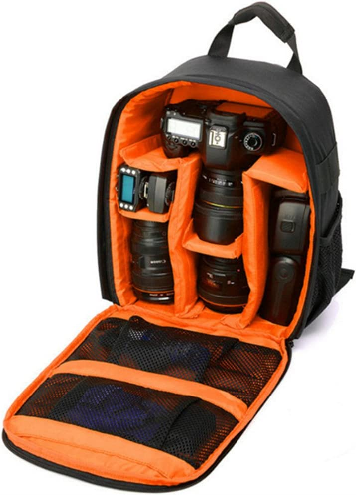 Orange DRF Backpack for DSLR Cameras and Accessories Daypack Outdoor BG250