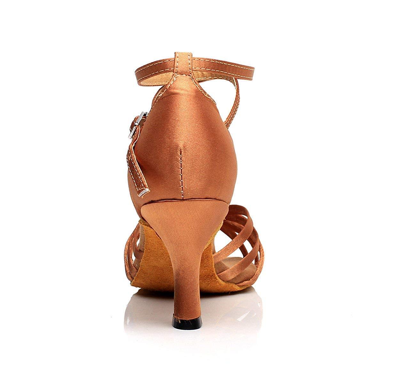 Yingsssq Lateinamerikanischer Tanzschuhe für Damen Sandalen Salsa Tango Tango Tango Chacha Samba Modern Jazz Schuhe Hohe Absätze Goldhacken7 5 cm-UK3   EU33   Our34 ffa3d9