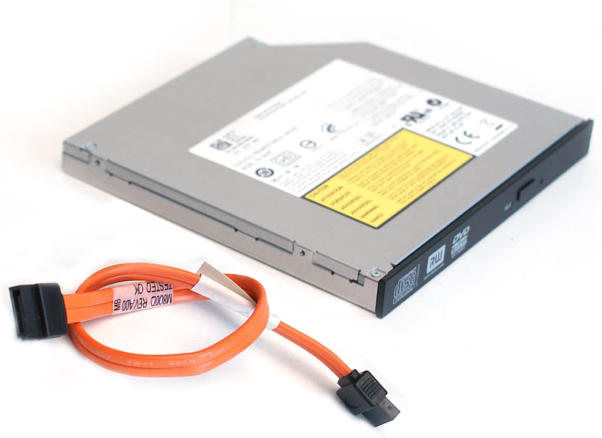 Dell Genuine DVD±RW DVD-RW CD/RW SATA Burner Optiplex 760, 780, 960, 980, 380, 580, 790 SFF Small Form Factor Slimline Slim Internal Optical Drive and SATA Cable