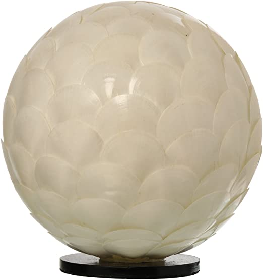 DONREGALOWEB Lámpara de sobremesa Redonda de Fibra y nácar