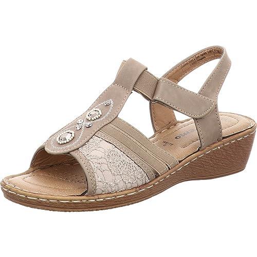 bdb7bcb26 Tom Tailor Women s Fashion Sandals Brown Size  6 UK  Amazon.co.uk ...