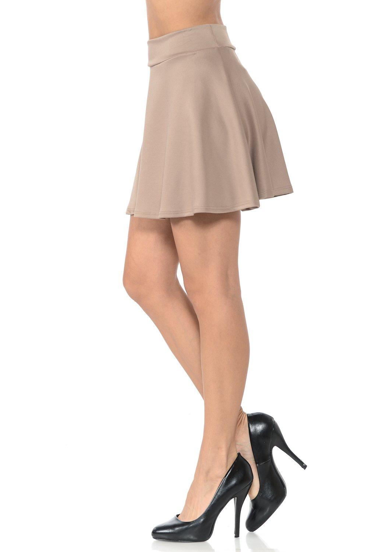Auliné Collection Womens Floral Elasticized Waistband Pleated Knee Length Skorts