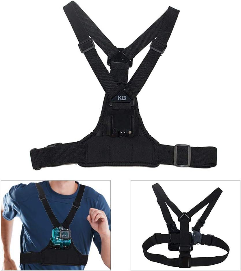 Arnés de pecho ajustable, compatible con cámaras GoPro, cinturón de acción elástico, ajustable, para deportes al aire libre, apto para deportes al aire libre