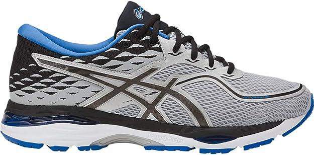 ASICS Mens Gel-Cumulus 19 Running Shoe, Grey/Black/Directoire Blue, 9 Medium US