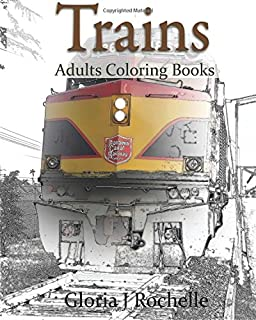 Amazon.com: Trains & Railroads : Adult Coloring Book Vol.3: Train ...