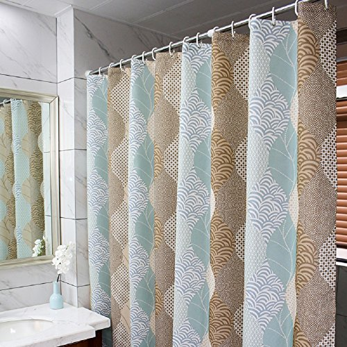 Ufaitheart Abstract Leaves Pattern Fashion Shower Curtain Fabric Stall Shower Curtain 36 x 72