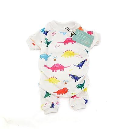 CuteBone Dog Pajamas Dinosaur Dog Apparel Dog Jumpsuit Pet Clothes P01XS