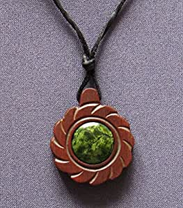 RINGING CEDARS OF RUSSIA CEDAR PENDANT - THE FLOWER OF SUN AMULET. ALL OUR AMULETS ARE MADE OUT OF SPECIALY CELECTED 400 YEAR-OLD CEDAR BARREL.