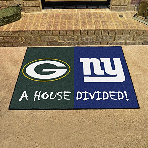 NFL House Divided - Packers/Giants Rug, 34