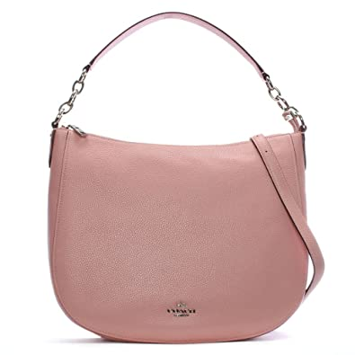 3f3b2caf6cef Coach Chelsea 32 Peony Pebbled Leather Hobo Bag Pink Leather  Amazon ...