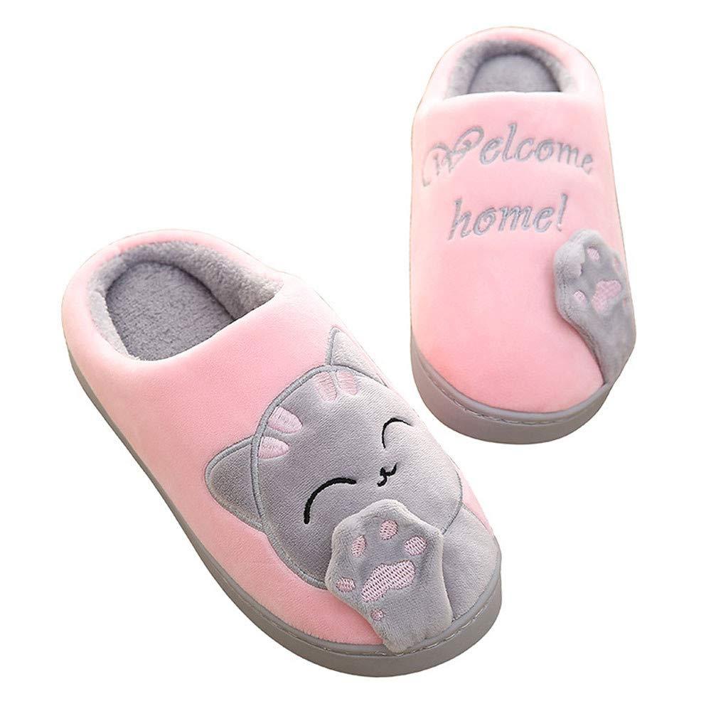 Amazon com: NUWFOR Women Winter Home Slippers Cartoon Cat Non-Slip