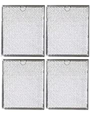 Ketofa WB6X486 Microwave Grease Filters Replacement Parts Compatible with GE General Electric Hotpoint Kenmore - 9'' X 7.75'' Range Oven Hood Aluminum Filter(4 Pack)