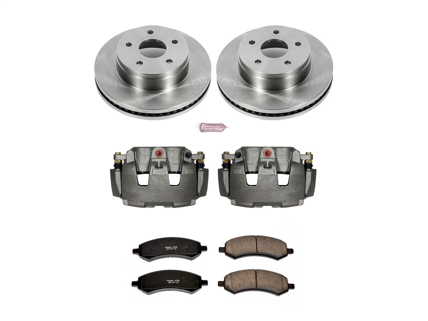 Power Stop KCOE2163A Front Stock Replacement Brake Kit with Calipers