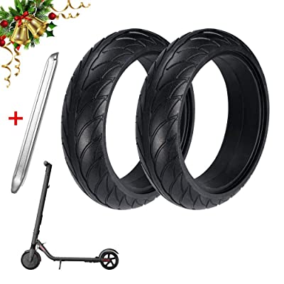 Konesky Scooter Tires, 8 Inch Front Rear Solid Tire for Xiaomi/Ninebot ES1 ES2 ES3 ES4 Electric Scooter Wheel Replacement + 1 Stainless Steel Tire Levers : Sports & Outdoors