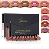 Coosa 12 Colors Non-Stick Cup Waterproof Long Lasting Velvet Matte Lip Gloss Set Liquid Lipstick Makeup
