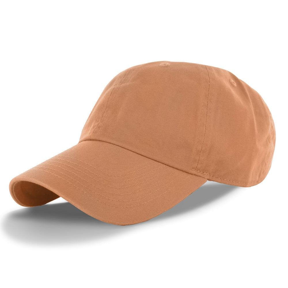 Sand_(US Seller)Cotton Plain Solid Polo Style Baseball Ball Cap Hat