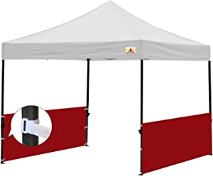 ABCCANOPY Two Half Walls for 10'x10', 10'x15', 10'x20' Pop Up Party Tent Canopy(2 Half Walls Only. Tent Purchased Separately) (red)