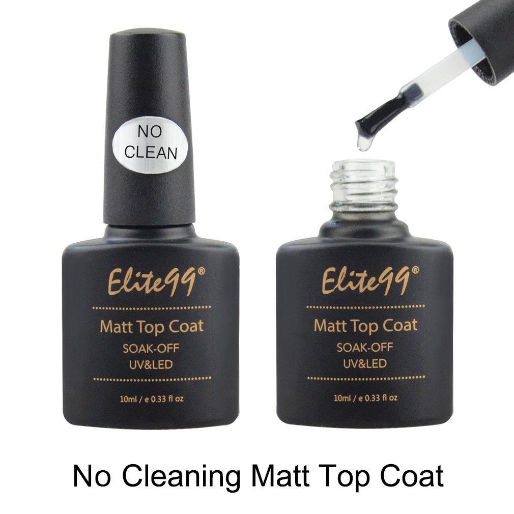 Elite99 No Wipe Matte Top Coat Gel Nail Polish Soak Off UV LED Gel ...