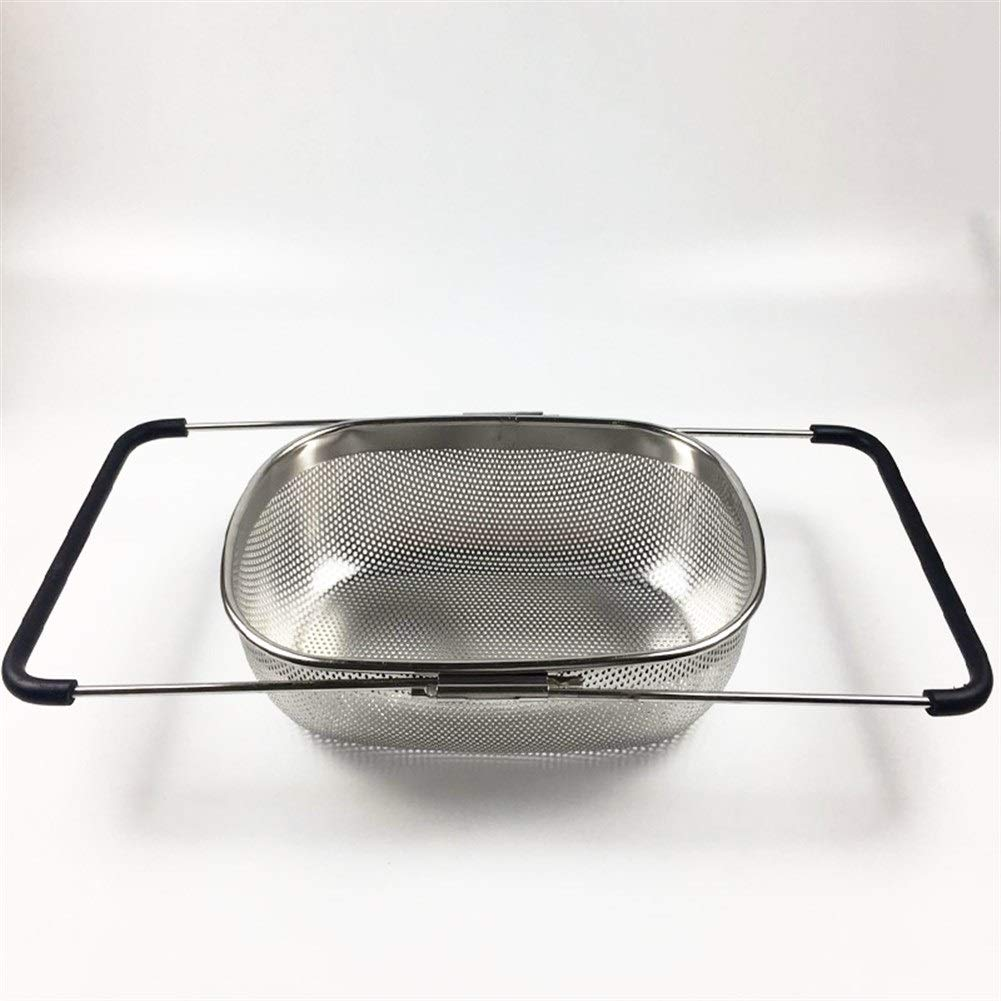 Stainless Steel Drain Basket Sink Sink Sink Drain Rack With Protective Cover Retractable (Size : 5725.2cm) by Xiguan