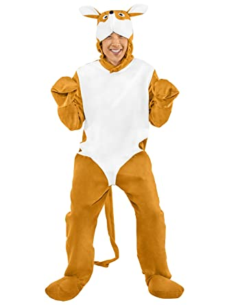 Adult Unisex Kangaroo Animal Fancy Dress Costume Suit Onesie  Amazon.co.uk   Clothing 51b2179d9