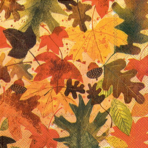 Ideal Home Range 40 Count 3-Ply Paper Lunch Napkins, Fall Leaves