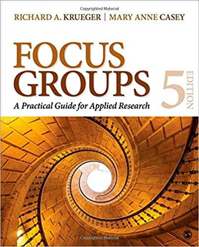 Book cover: focus groups: a practical guide for applied research