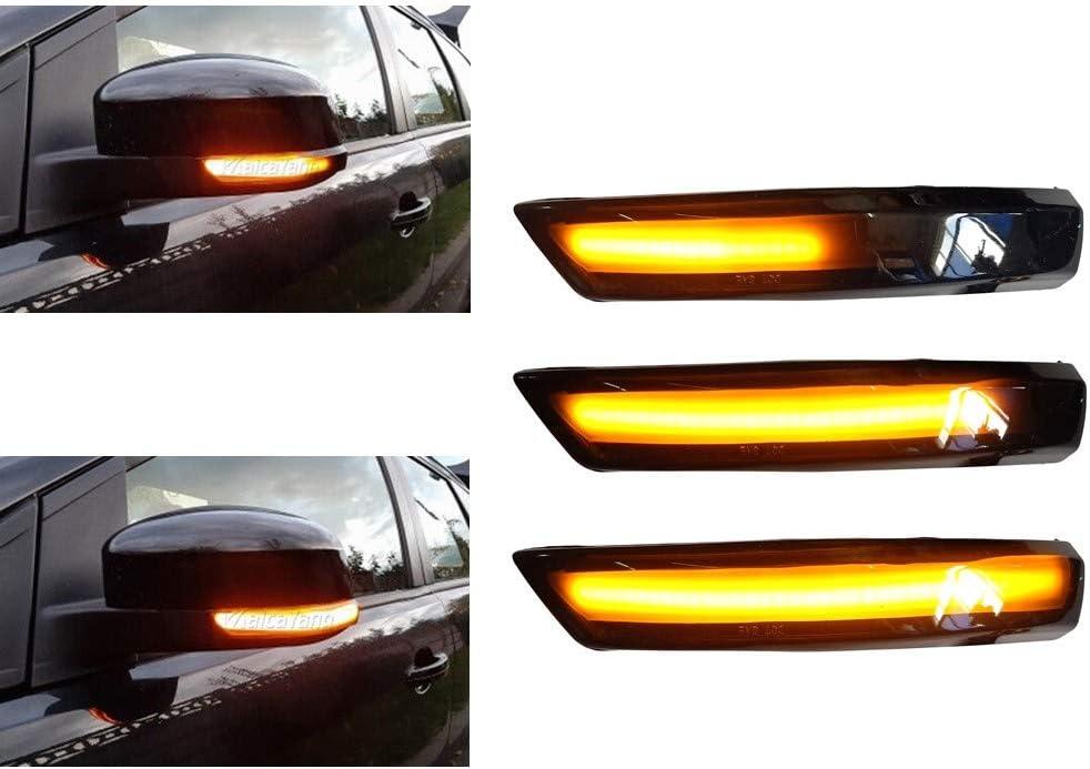 Une paire Indicateur de Miroir Sequentiel Dynamiques LED Clignotant pour Focus 2 3 MK3 MK2 Mondeo MK4