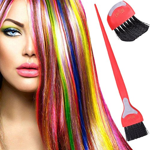 Yeefant Portable and Durable Plastic Salon Hair Coloring Brush Tool for Dyeing Tinting Caring DIY Hairdressing,8.6x1.4 Inch ()