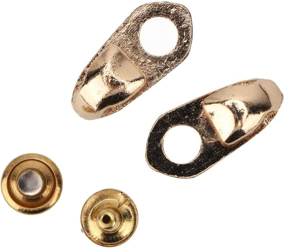 Feet Around-Bronze- KEYREN 20 St/ück Alloy Boot Lace Haken Lace Armaturen mit Nieten f/ür Reparatur//Camp//Hike//Climb Zubeh/ör