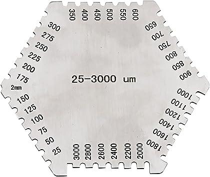 Wet Film Comb 25-3000 um Hexagonal Gauge Stainless Steel Thinkness gage