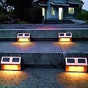 Amazon Lightning Deal 96% claimed: 8Pack Copper Finish Solar Deck lighting Sogrand Solar Lights Solar Pathway Lights Solar Deck Lights