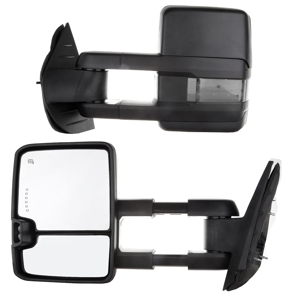 Scitoo Towing Mirror 2007-2013 Chevy Tahoe Suburban Avalanche Chevy Silverado GMC Sierra a Pair Mirrors 050908-5206-1257033396
