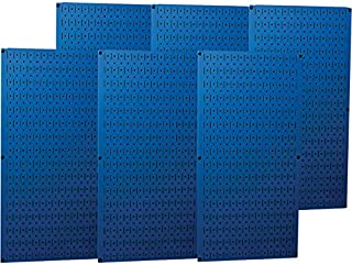 product image for Wall Control Industrial Metal Pegboard - Blue, Six 16in. x 32in. Panels, Model Number 35-P-3296BU