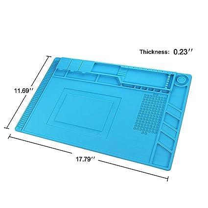 Magnética de aislamiento térmico silicona Matte Reparación Kit, 17.79 X 11,69 de pulgadas
