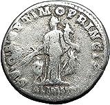 TRAJAN 112AD Rome Abundantia & Child Authentic Ancient AR Roman Coin i58546