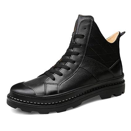 Xxoshoe Vestido clásico de Cuero para Hombres Botines de Chukka de Tobillo Zapatos con Cordones de