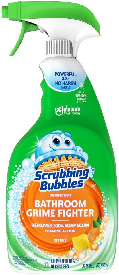 Amazon Com Scrubbing Bubbles Bathroom Grime Fighter Spray Citrus 32 Fl Oz Ounce Home Kitchen