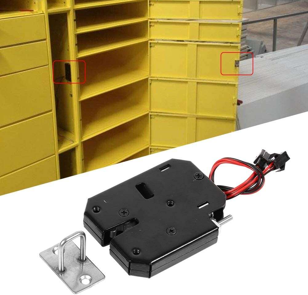 Fictory Electric Lock DC 12V 2A Electromagnetic Cabinet Drawer Cabinets Lock Trap Steel