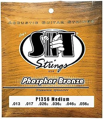 SIT P1356 - Juego de cuerdas para guitarra acústica y guitarra ...
