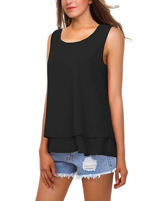 BaiShengGT - T-Shirt - Asymétrique - À Pois - sans Manche - Femme - Noir -  Large  Amazon.fr  Vêtements et accessoires c77460bbb873