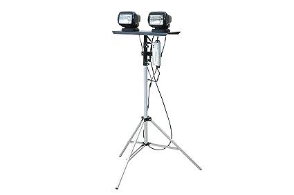 Portátil telescópica luz LED Torre – Dual Control remoto focos – 120 – 277 vac –