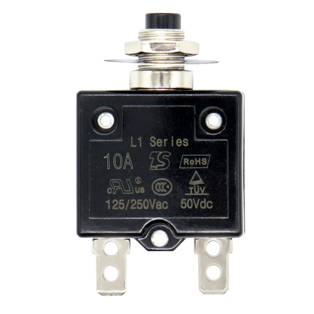 Manual Reset Circuit Breaker 125-250V AC 50V DC Push Button Thermal Circuit Breake Childplaymate